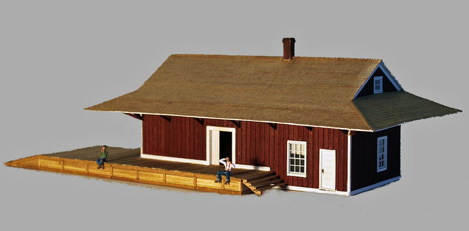 KEARSARGE DEPOT HO Model Railroad Structure Craftsman Unpainted Wood Kit CM31417