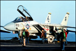 F-14-Tomcat-VF-142-Prepares-For-Launch-1983-8x12-Aircraft-Photos