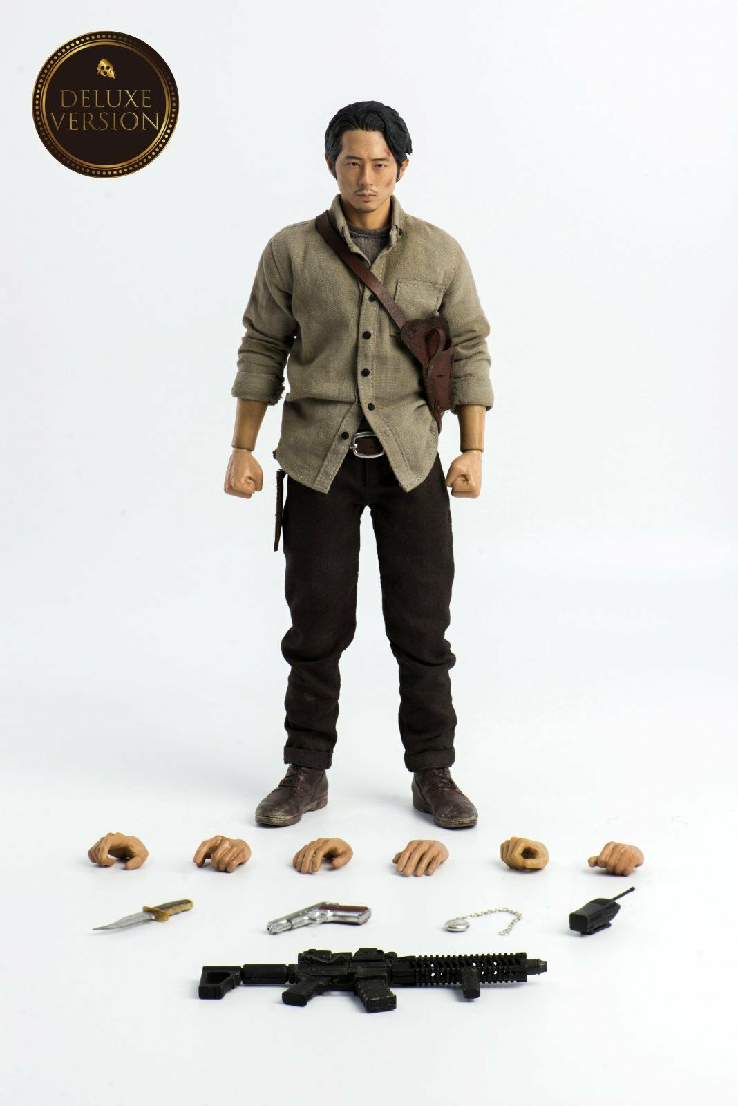 [en Stock] THREEZERO The Walking Dead-Glenn Rhee Deluxe Ver. 1 6 Figura De Acción