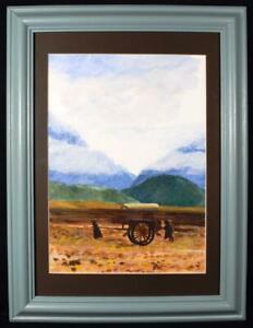 Original Irish Art Watercolour Painting Irish Famine Signed