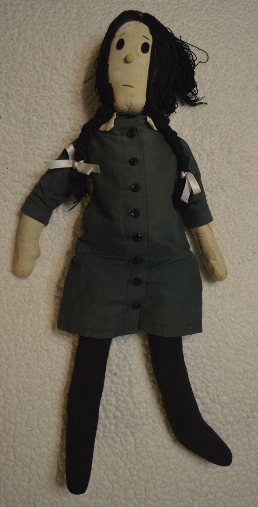 ABORIGINAL WEDNESDAY ADDAMS CLOTH DOLL Charles Addams Family Ultra RARE 1961