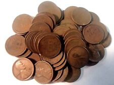 1916-D Lincoln Cent Pennies 50 Coins Wheat Penny Roll of Nice Circulated Good