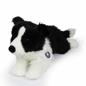 Stofftier Border Collie, liegend, Hund Plüschtier (l ca. 57 cm) FÜLLUNG RECYCELT