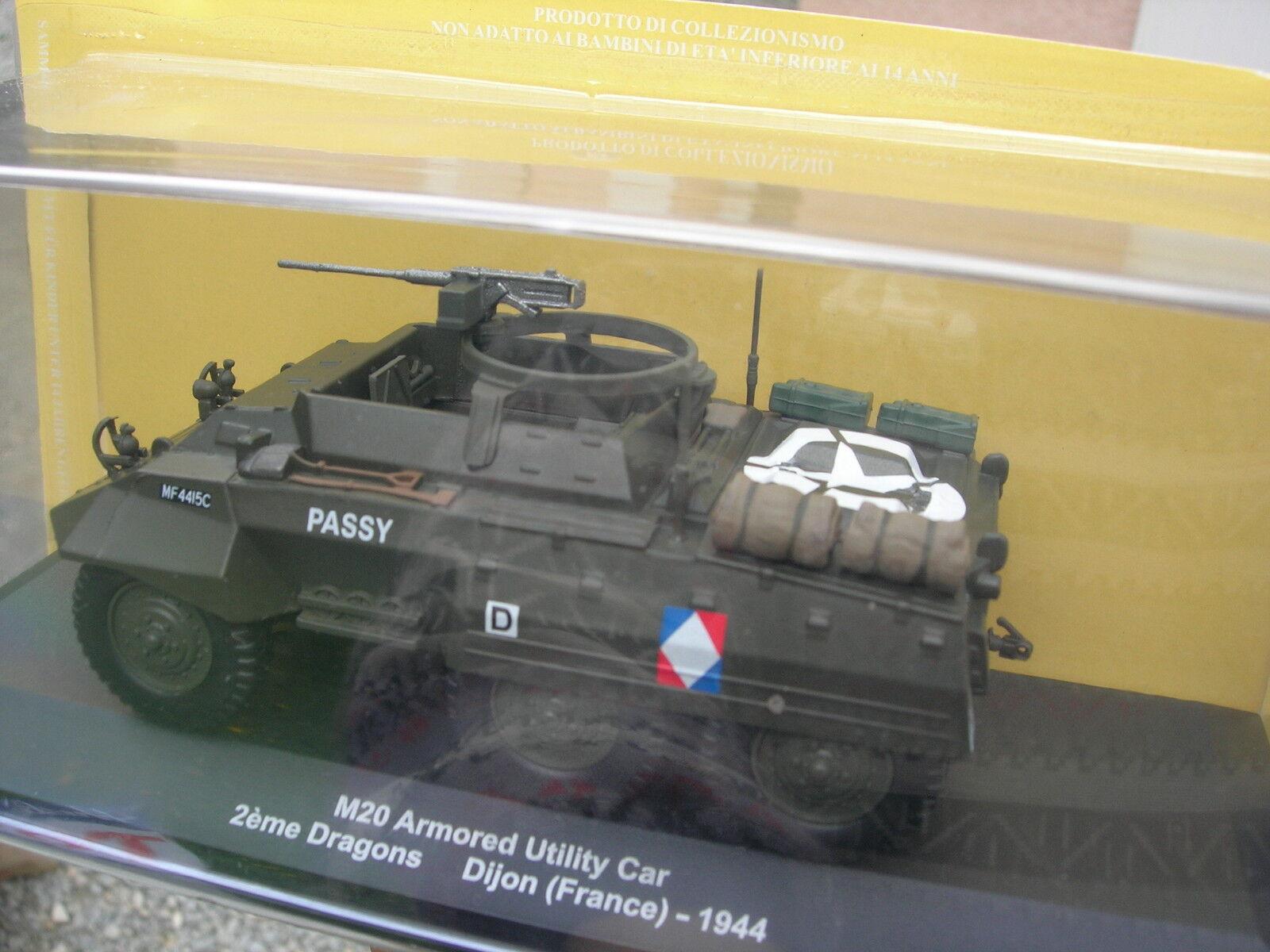 EAGLEMOSS 1 43 MILITAIRE Vehicule Blindé M20 6X6 2eme dragons 1944 DIJON