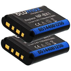 2-x-1100mAh-Akku-wie-NP-BX1-f-Sony-Action-Cam-AS15-AS20-AS30V-AS100V-AS200V
