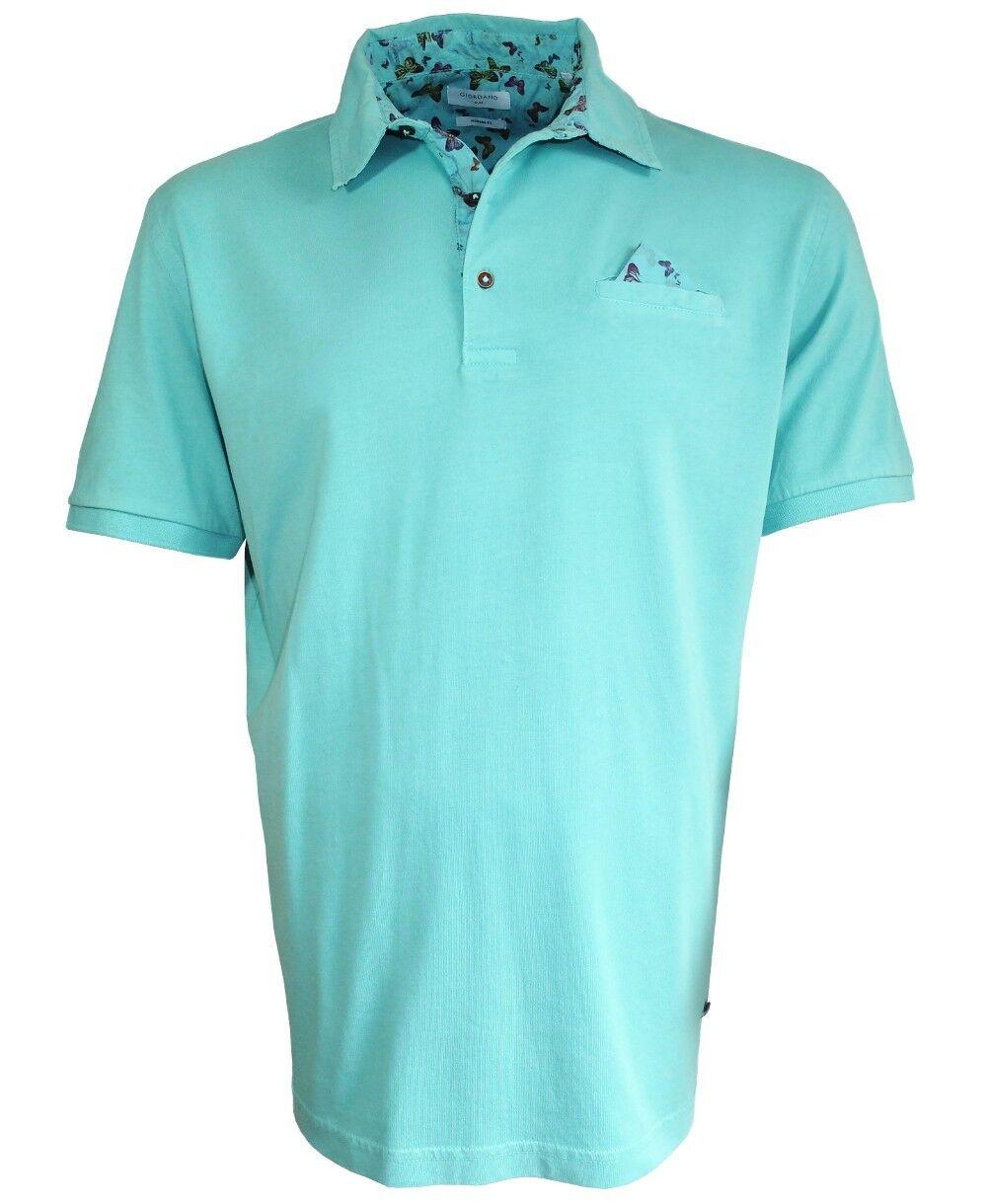 Giordano Polo Shirt mit Brusttasche und Ziertuch in mint Gr. XL und XXL