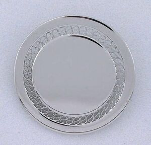 .925 Pure Sterling Round Ballou BAB Vintage Brooch Brooche Pin 5009