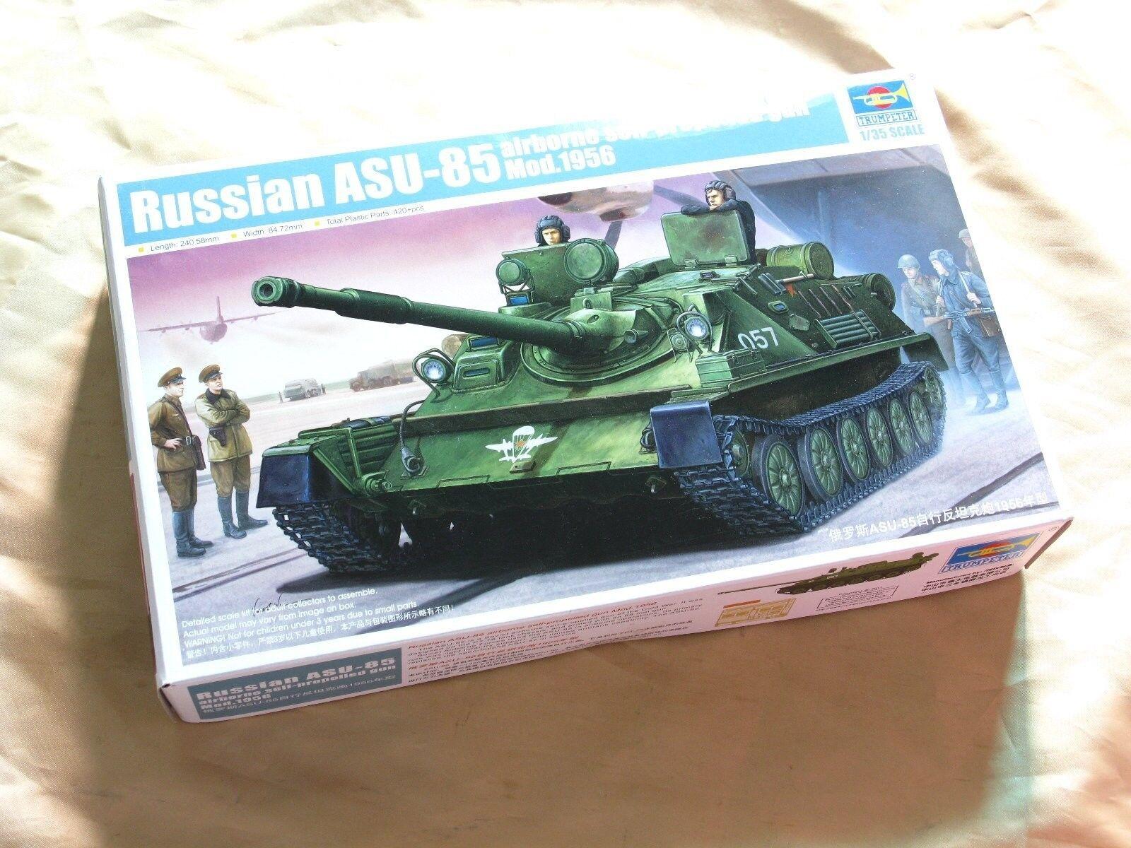 opciones a bajo precio 01589 1 35 escala ASU-85 cañón arma autopropulsada autopropulsada autopropulsada antitanque modelo Trumpeter  barato y de alta calidad
