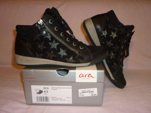 black M zapatillas 5 ocio G 5 37 zapatos de f Ara 4 sterne cuero ancho 4RAdq5nw