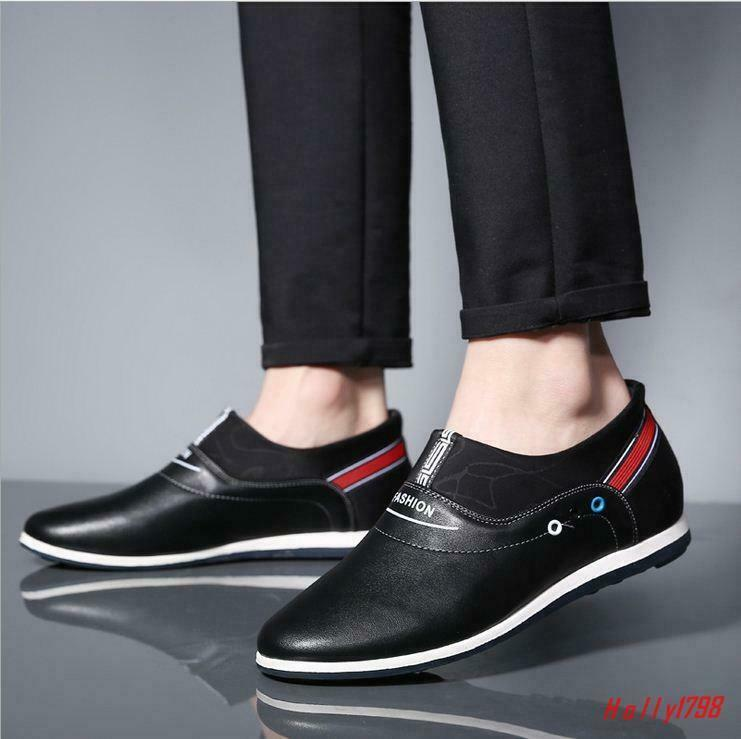 Vogue Mens Slip On Breathable Oxfords Casual Business In elevator shoes Gommino