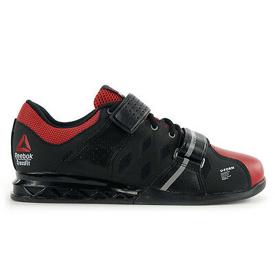 Reebok Men's Crossfit Lifter Plus 2.0 Black/Red Training Shoes M48557 NEW!