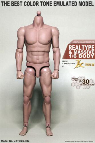 "1//6th JXtoys S02 Bulk Strong Muscular 12/"" Figure Body For Bane BW//Neck"