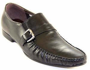 Image is loading ZOTA-UNIQUE-MEN-039-S-SLIP-ON-BLACK-