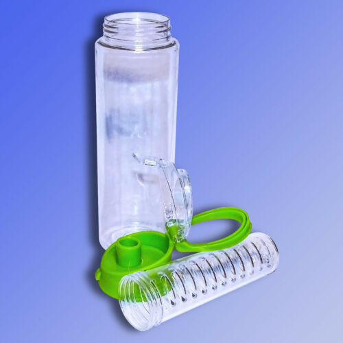 Sportflasche m Trinkventil Wasserflasche Trinkflasche mit Fruchteinsatz o