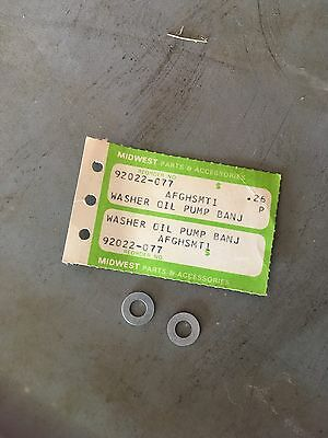 NOS KAWASAKI Oil Line Banjo Bolt with Washers H1 500 H2 750 S1 S2 S3 KH400