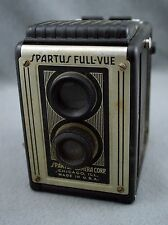 Spartus Full Vue Very Vintage Box Camera 120 Film Plenachrome USA Collectible