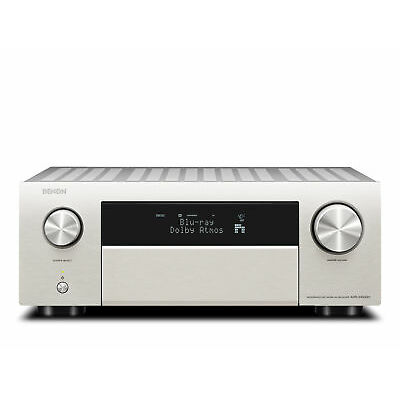 Denon AVR-X4500H 9.2-Kanal-Netzwerk-A/V-Receiver mit HEOS 200 Watt, Silber