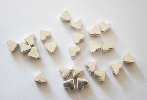 5 mm 40 Argent Antique Coeur Spacer Beads