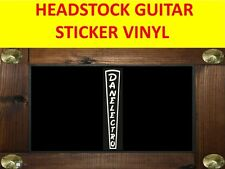 DANELECTR WHITE HEADSTOCK BASS  STICKER VISIT OUR STORE WITH MANY MORE MODELS