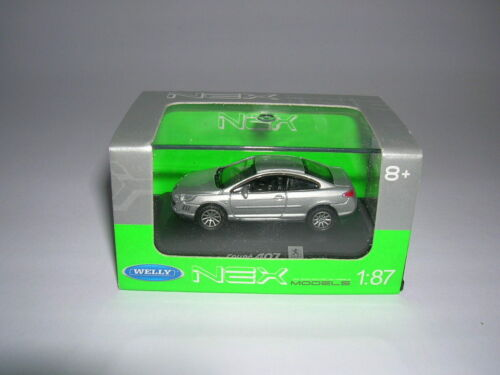 Welly peugeot 407 Coupe plata silver metal 1:87 h0