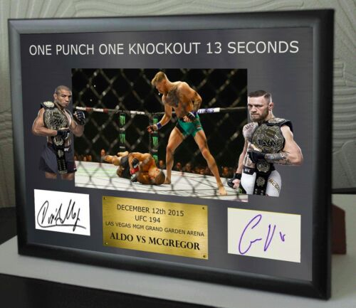 "Conor Mcgregor UFC canvas tribute signed Limited Edition ""Great Gift Souvenir"""