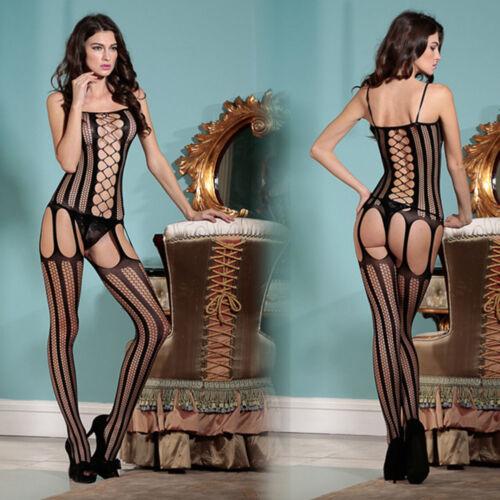 Women Lingerie Bodystocking Hollow Fishnet Underwear Teddy Exotic Burlesque