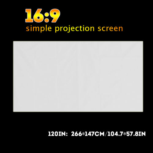 60-120 Inch Portable Outdoor Home Projector Curtain Projection Screen 16:9 MF
