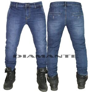 Jeans Uomo Tasca America Pantaloni Elasticizzati Denim 5608