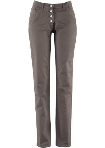 BPC Damen Stretchhose Jeans Chinohose Stretch Knopfverschluss mittelbraun 946570