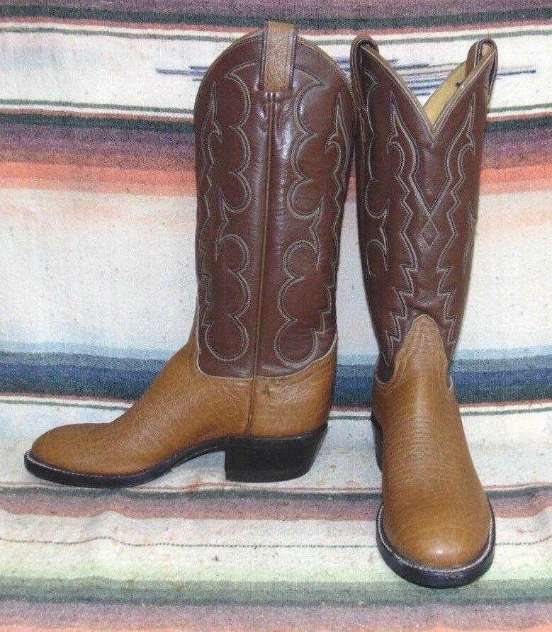 Donna Vintage Tony Lama Brown Antelope / Pelle Cowboy Stivali 5 A NEW w/o Box