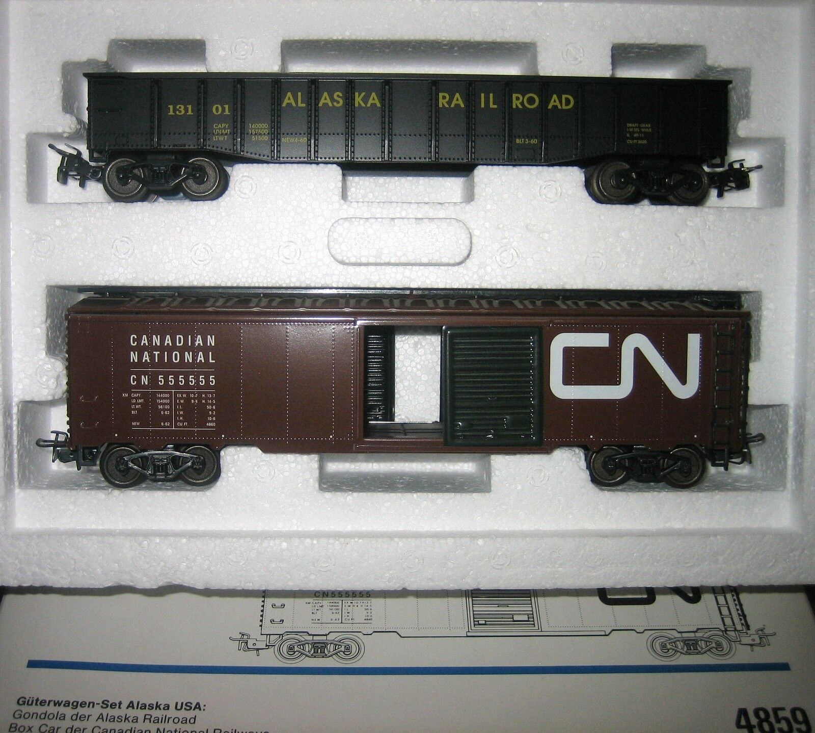 Märklin H0 4859 USA Freight Wagon Set Alaska to 3663 New Condition Original Box