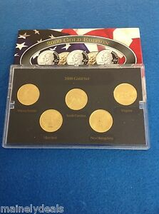 Historic coin collection 2007 gold plated state quarter.