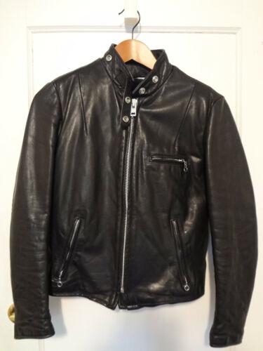 Vintage Schott Cycle Rider Women's Black Leather M