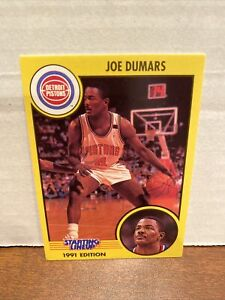 Joe Dumars 1991 Kenner Starting Lineup Card - Detroit Pistons