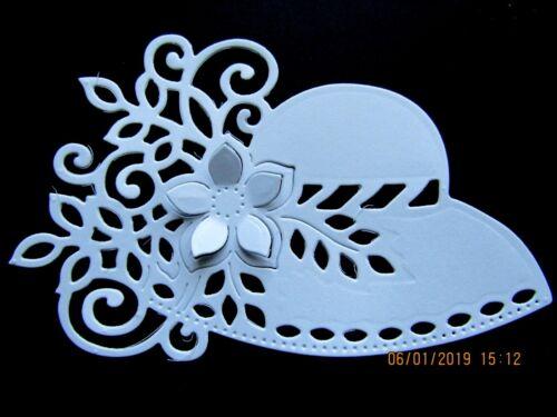 10 x Sweet Dixie Femmes Bonnet Die Cuts Blanc