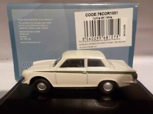 FORD-CORTINA-MK1-WHITE-Model-Cars-Oxford-Diecast