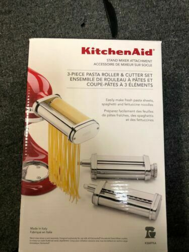 KitchenAid Ksmpra 3 Piece Pasta Roller Cutter Attachment Set for sale  online   eBay