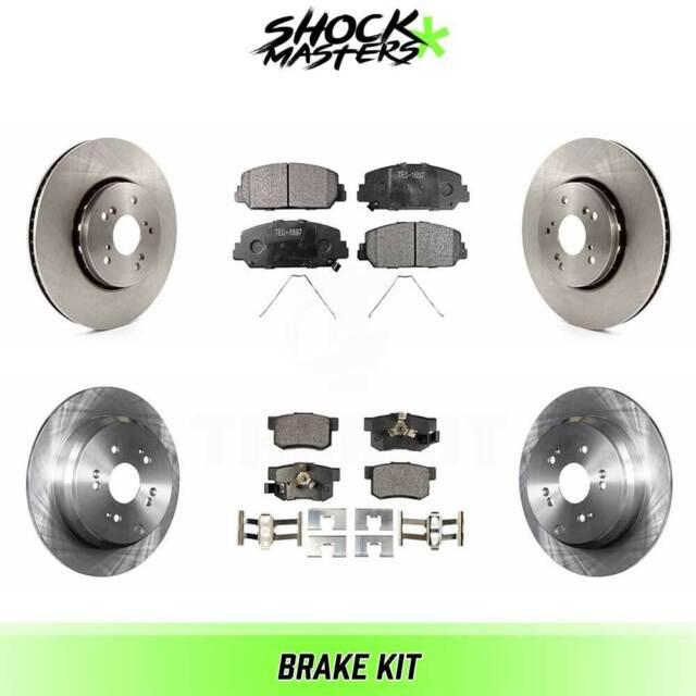 Front & Rear Ceramic Brake Pads & Rotors Kit For 2013-2018