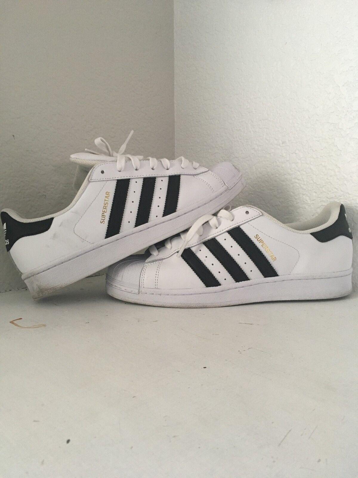 adidas originals classic superstar white-black männer shell die schuhe white-black superstar größe 9. fbf813