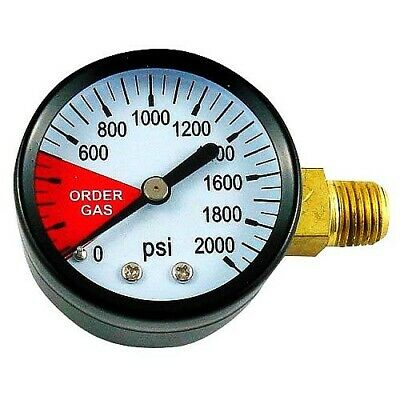 Left Hand Thread Regulator Gauge, 0-2000 PSI