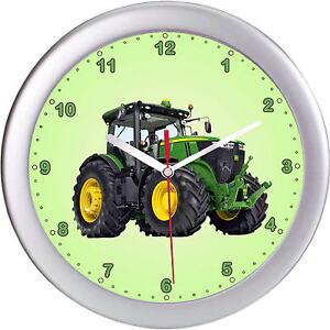 kinderwanduhr wanduhr kinderuhr uhr traktor gr n trecker landwirtschaft ebay. Black Bedroom Furniture Sets. Home Design Ideas