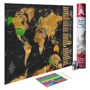 Rubbel Weltkarte Zum Rubbeln Scratch Off Rubbelposter Poster