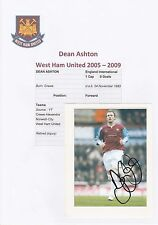 DEAN ASHTON WEST HAM UNITED 2005-2009 ORIGINAL HAND SIGNED MAGAZINE CUTTING