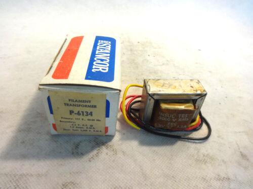 6.3V FILAMENT TRANSFORMER NEW IN BOX STANCOR P-6134 PRI 117V SEC