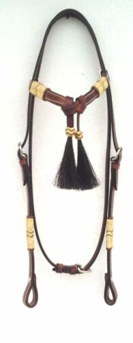 Set of Western Leather Headstall Hand Braided Rawhide Show Romel Romal Reins7