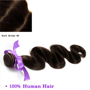 Dark-Brown-Body-Wave-WINTER-SPECIAL-Sew-In-Hair-Weave-Extension-100-Human-24-In