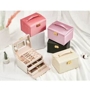 Large-Portable-Jewellery-Box-Rings-Necklaces-Bracelets-Jewelry-Storage-Organiser