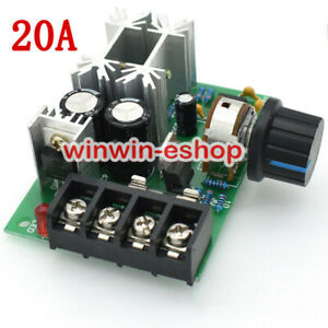 20A  PWM DC Motor Speed Controller DC 10-60V 100% Speed Range Regulator Switch