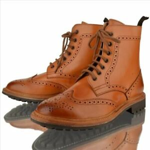 MENS LEATHER BROGUE GOOD YEAR WELTED