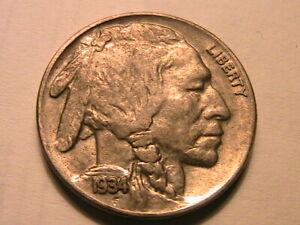 1934-P-Buffalo-Nickel-Choice-AU-Lustrous-Toned-Original-Indian-Head-5-Cent-Coin